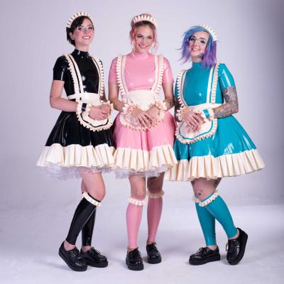 Latex maid dress inspired by anime characters
