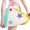 Detail latexové sukně - výlep latexové hvězdy.