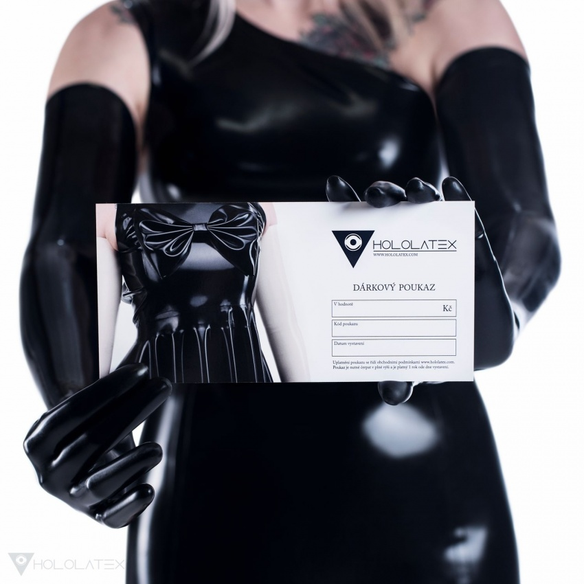 A printed Hololatex gift voucher.