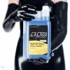 BeGLOSS Special Wash - ein Waschmittel für Latex Kleidung in einer 1L Verpackung und Messbecher.