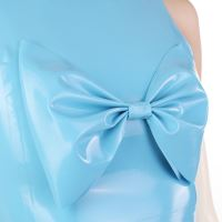 Big latex bow made of sky blue latex.