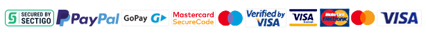 Comodo secure site logo and logos of Mastercard, Maestro and Visa payment cards.